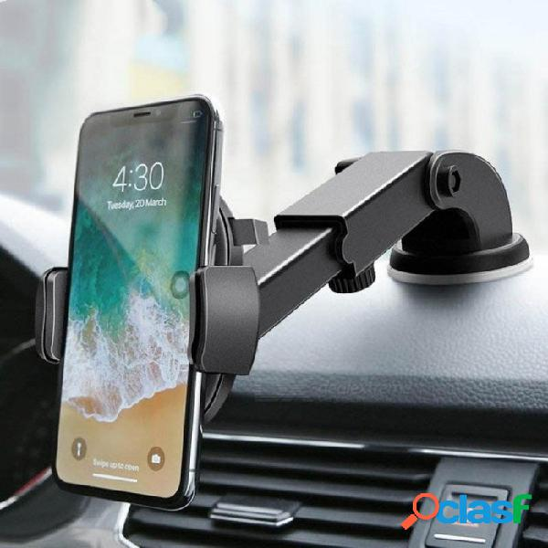 Soporte para teléfono para auto de lujo para iphone x 8 7 7 6 más soporte para parabrisas soporte para teléfono con rotación 360 soporte para samsung s9 s8 amarillo
