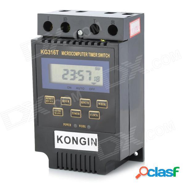 """1.9 """"lcd micro-computadora de energía eléctrica temporizador interruptor de tiempo con reloj (ac 110v)"""