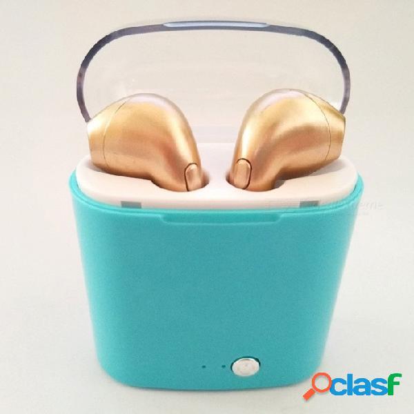 I7s portátil mini bluetooth ligero inalámbrico para auriculares in-ear auriculares auriculares con caja de carga para deportes