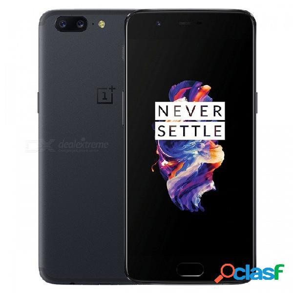 """Oneplus 5 a5000 teléfono dual sim de 5.5"""" con 8 gb de ram, rom de 128 gb, gris, batería de 3300 mah (enchufe de ee. uu.)"""