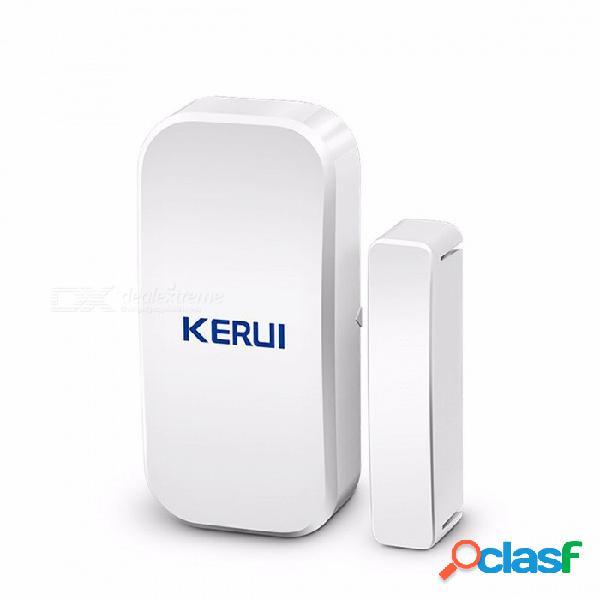 Sensor inalámbrico del sensor del imán de la ventana de la puerta de kerui d025 433mhz para el sistema de alarma inalámbrico casero