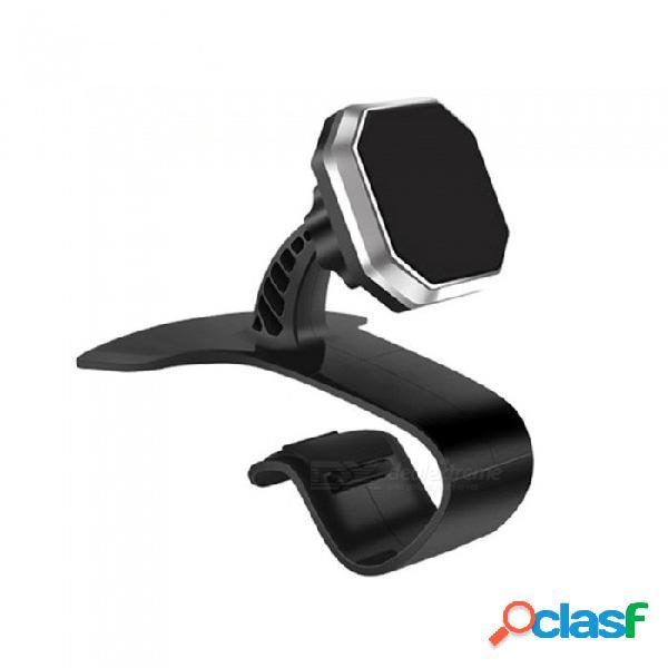 Tablero del coche soporte giratorio para el teléfono con soporte de navegación magnético de 360 grados - negro