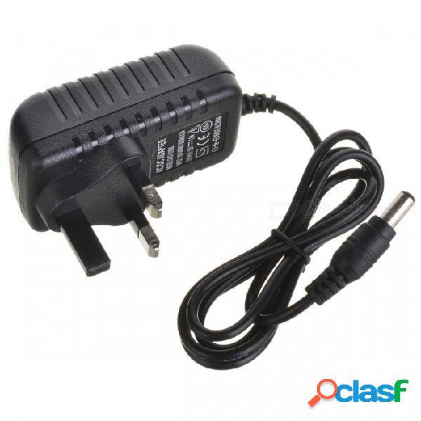 Adaptador de fuente de alimentación 12v 1a para luz led / cámara ip - negro (enchufe del reino unido)