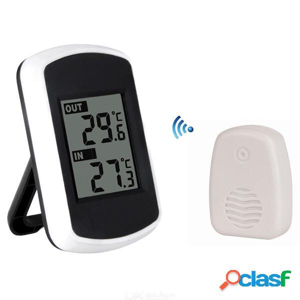 Interior al aire libre lcd digital termómetro inalámbrico instrumentos de temperatura indicador de temperatura electrónico estación meteorológica probador shite