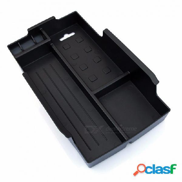 Auto reposabrazos secundario almacenamiento central consola centro bandeja organizador caja accesorios del coche para toyota camry 2012 2013 2014 2015 negro
