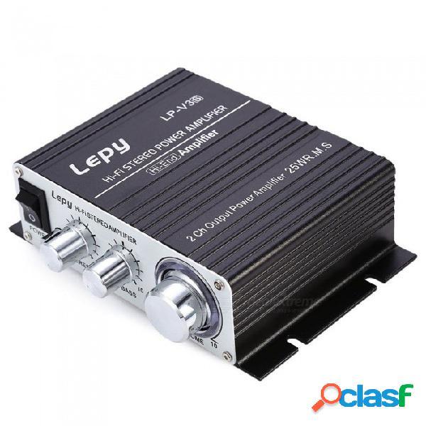Mini amplificador de potencia digital estéreo de alta fidelidad lp-v3 700w 12v, altavoz de audio para automóvil mp3 con entrada de audio de 3,5 mm, negro