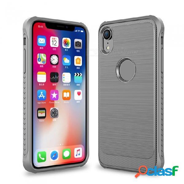 Nuevo teléfono móvil equipado tpu casos de negocios anti-teléfono protector de teléfono para iphone xr / xs max / x / xs negro / iphone x / xs