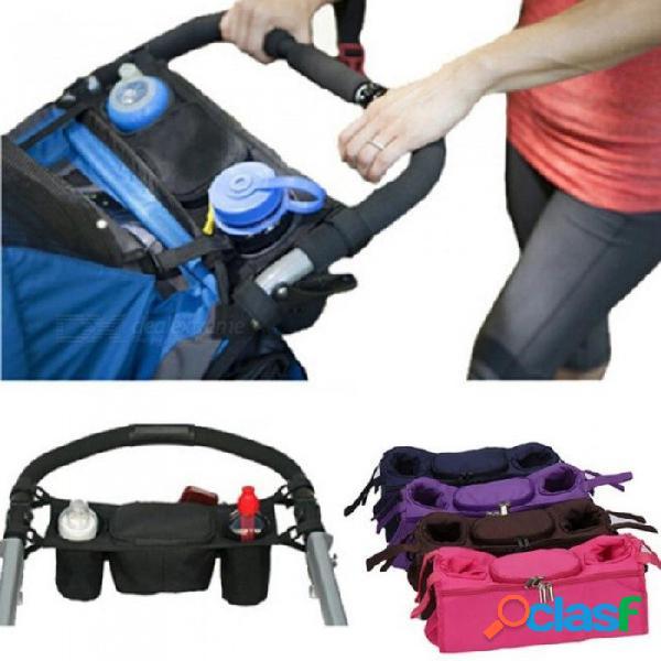 Organizador de cochecito de bebé, enfriador y bolsa térmica para mamá, cochecito cochecito cochecito carrito carrito carrito bolsa accesorios