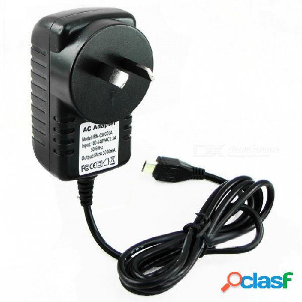 Adaptador de corriente de 3 p raspberry pi 3 ligero portátil, cargador de fuente de alimentación, adaptador de cc / ca fuente de alimentación psu enchufe au