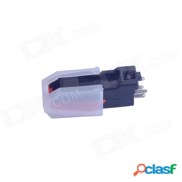Aguja estérea de la aguja del abs para la placa giratoria del usb placa giratoria lp del vinilo - negro + rojo