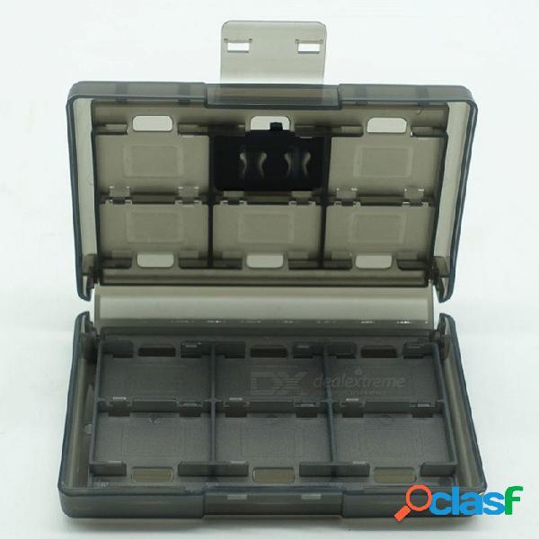 Caja De Casete De La Caja De La Tarjeta De Memoria Del Juego 24 En 1, Estuche De Almacenamiento Para La Consola NS De Nintendo Switch Blanco