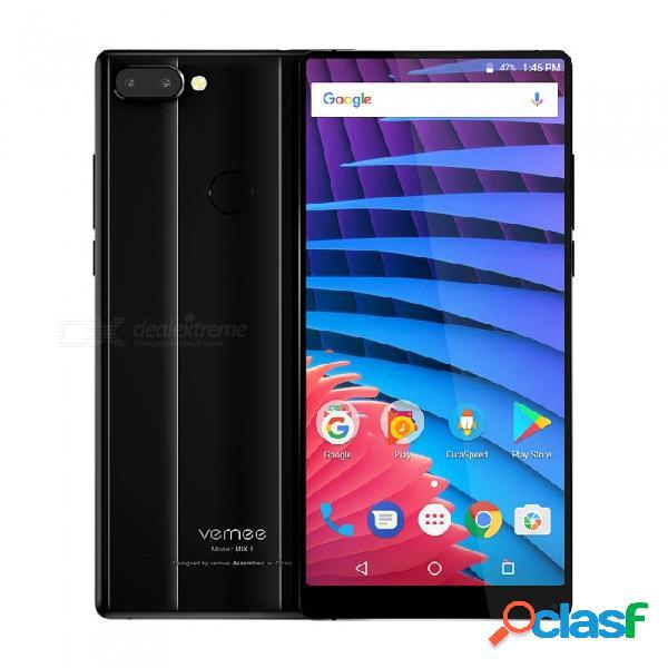 "Vernee mix 2 teléfono con pantalla completa android 7.0 4g 6.0 ""dual sim octa-core phone w / 4gb ram, 64gb rom - negro"