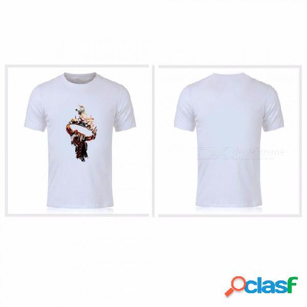 Camiseta de manga corta de sangre madre de dragón la canción de hielo y fuego camiseta de algodón 100% para hombres camisas de mujer blanco / s