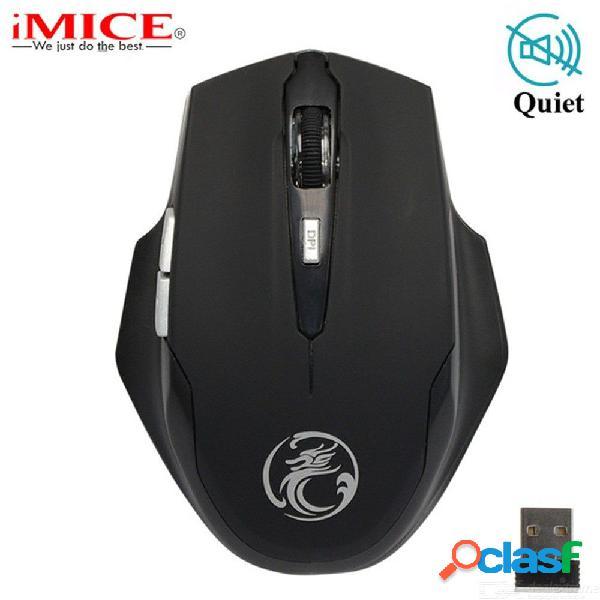 Imice e-1900 2.4ghz ratón inalámbrico ergonómico mini botones de silencio ratón usb para computadora portátil de pc