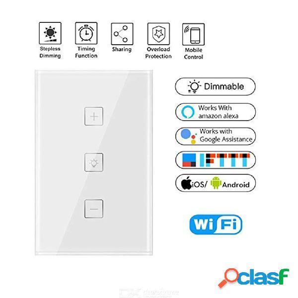 Pared inteligente wifi control de control continuo regulador de tiempo de conmutación dimmer compatible con alexa / google home