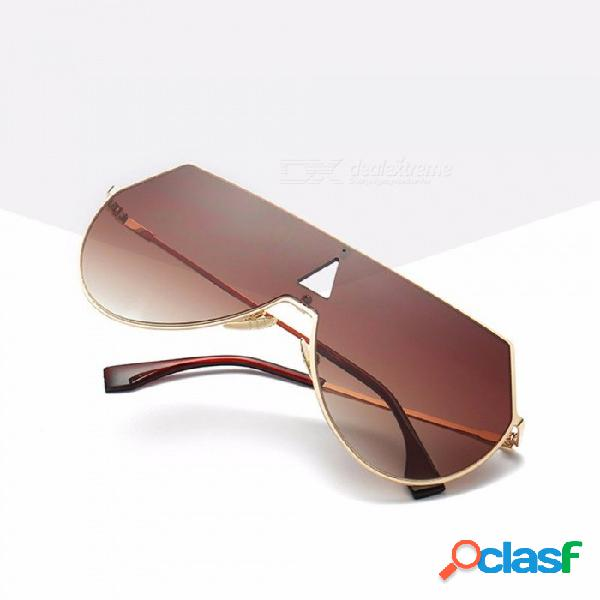 Escudo de moda gafas de sol de gran tamaño, mujeres hombres, una pieza, revestimiento de lente, espejo, película de color, gafas de sol, negro
