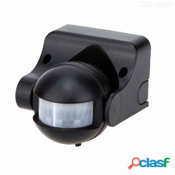 Ir infrarrojo sensor de movimiento ahorro de energía interruptor de control de luz automático ángulo ajustable tiempo de retardo negro