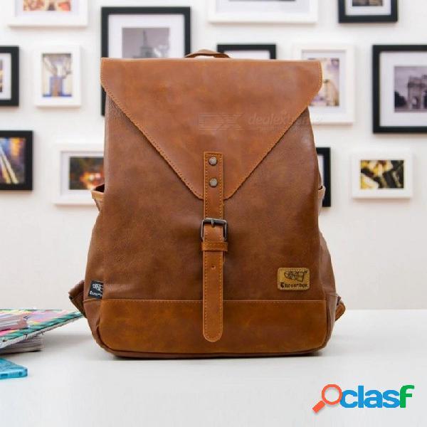 Mochila de moda para mujer mochila de viaje para hombre mochilas escolares bolsa de negocios de cuero para hombres portátil grande bolsa de viaje de compras naranja