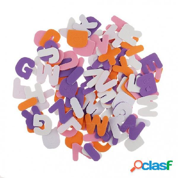 150 pedazos de las letras del alfabeto de A-Z autoadhesivas pegatinas de espuma para scrapbooking arte scrapbooking tarjetas que hacen NEGRO