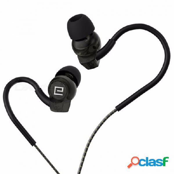 Auriculares sp80a langsdom deportes a prueba de agua estéreo para llamadas de juegos auriculares para audífonos intrauditivos con volumen de micrófono auriculares negro