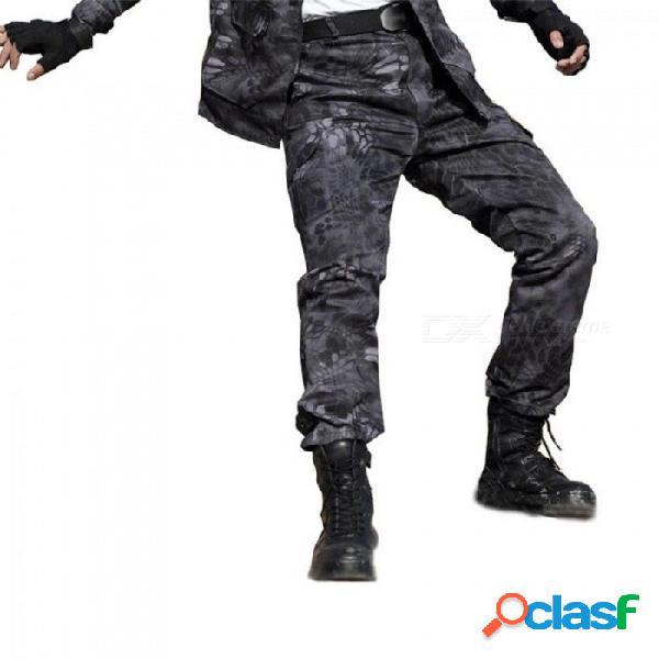 Militar de combate de pitón negro ejército pantalones de carga de alta calidad de trabajo pantalón del harem hombres tácticos basculador pantalon pantalones deportivos negro pyth