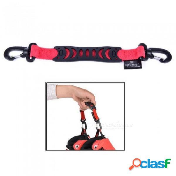 Patines de nylon en línea manejar gancho de la hebilla, para seba powerslide rb zapatos de patinaje patins con color rojo rojo