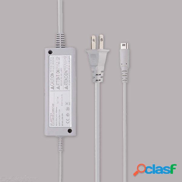 Cable de cable adaptador de fuente de alimentación para el controlador de gamepad nintendo wii u - enchufe de ee.uu.