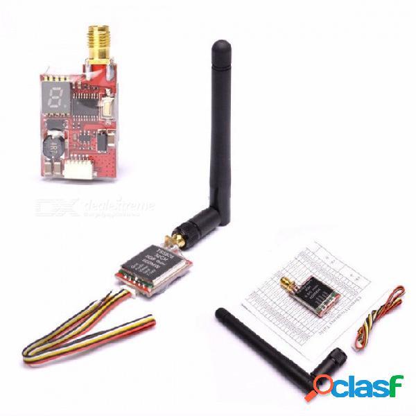 Readytosky ts5828 / ts5828l mini transmisor fpv micro de 5.8 ghz 600 mw 48 canales con antena, pantalla digital ts5828l y cámara