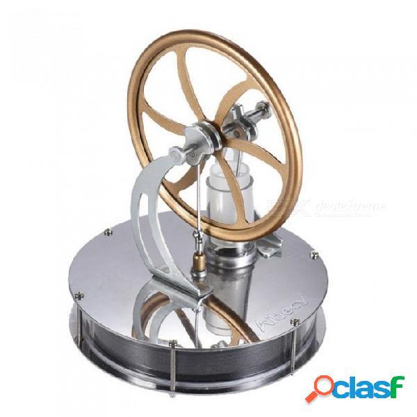 Acero inoxidable de baja temperatura mini aire stirling motor motor modelo calor vapor educación juguete ciencia experimento kit oro
