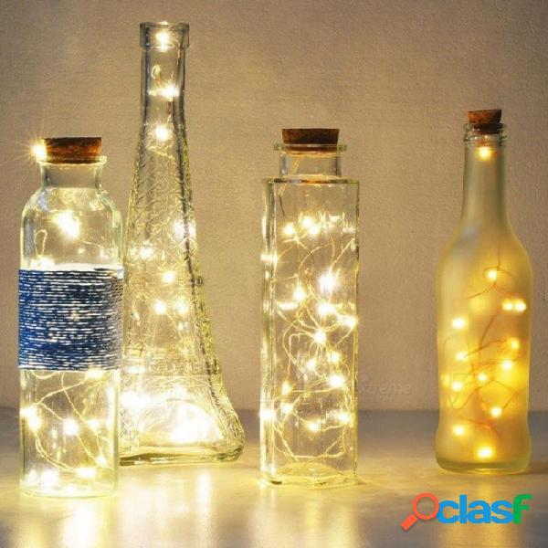 Batería a prueba de agua usb led cadena guirnalda luz lámparas de escritorio luces de hadas dormitorio sala de estar decoración del hogar lámpara 5 m blanco