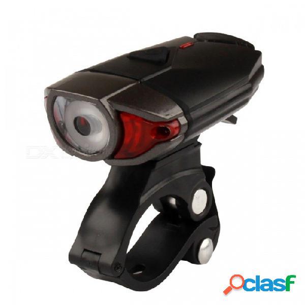 Bicicleta 3w 300lm led faro casco luz de noche seguridad usb bicicleta recargable bicicleta intermitente luz delantera rojo