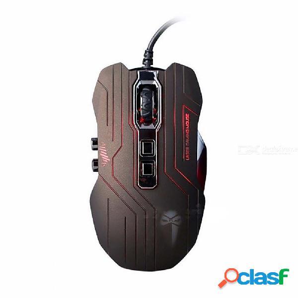 Luom 3200 dpi botones ópticos 9d ratón gamer con cable ratones ergonómicos programables por led para computadora de escritorio profesional