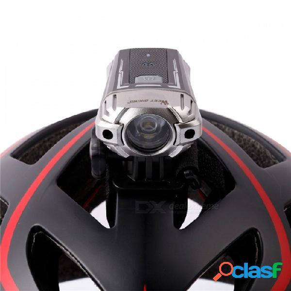 West biking luz de casco de bicicleta luz usb recargable faro luz de noche manillar de seguridad luz intermitente delantera de la bici para el manillar del casco