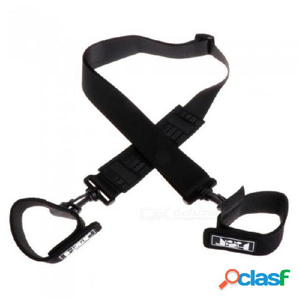 Caña de pescar correa de correa correa del hombro ajustable cinturón de viaje trastos de viaje 110 cm con color negro 110 cm