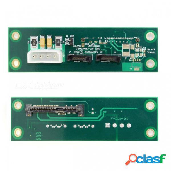 Cy sf-107 sff-8482 sas 29 pines a la unidad de disco duro sata de 7 pines dual adaptador de banda hdd pcba