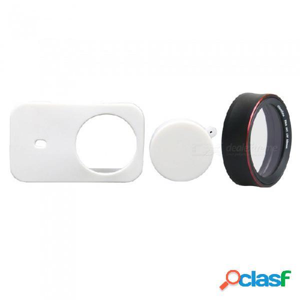 Funda de silicona para cámara + tapa de protección pro mcuv para cámara deportiva xiaomi mijia - blanco