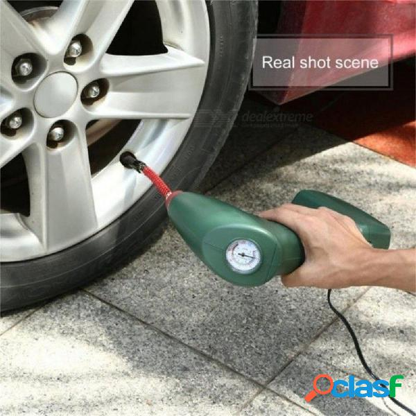 Herramienta portátil del coche de la bomba del inflador del neumático auto del compresor de aire de mano para los colchones de aire al aire libre de la piscina de la bola de la emergencia