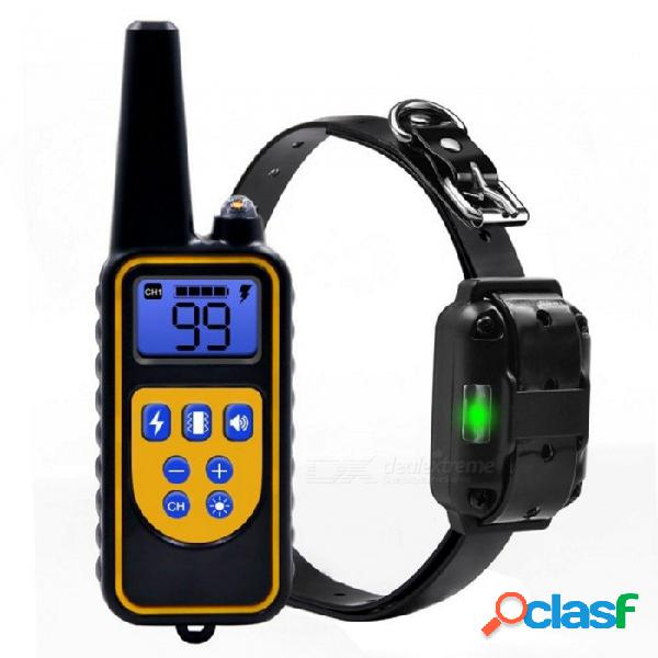 Zhaoyao collar de entrenamiento del perro eléctrico dejar de ladrar a prueba de agua recargable contra la corteza dispositivo de entrenamiento de control remoto