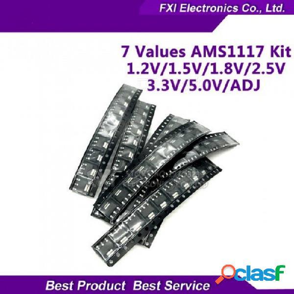 70pcs ams1117 regulador de voltaje kit 1.2v / 1.5v / 1.8v / 2.5v / 3.3v /5.0v/adj ams1117-3.3v ams1117-3.3 ams1117-5.0 7 valores cada 10pcs 70pcs