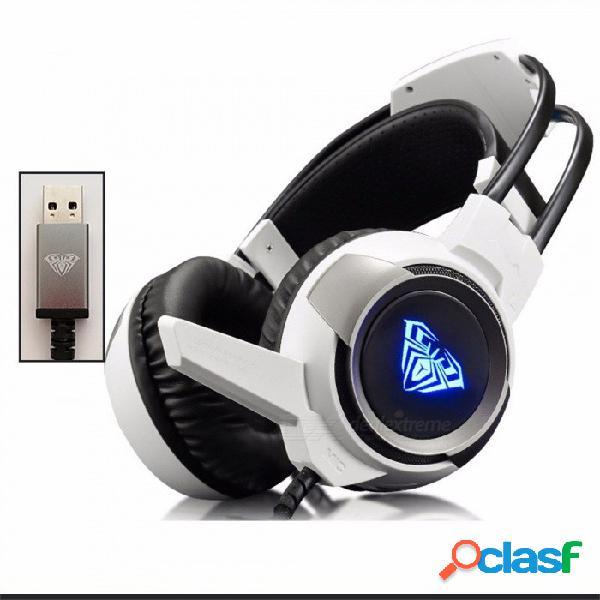 Auriculares para juegos auriculares casque gamer auriculares estéreo usb con auriculares con micrófono para computadora de la pc