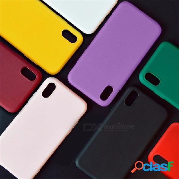 Funda protectora de tpu esmerilado de color sólido para iphone x, funda mate mate de tpu para teléfono celular suave