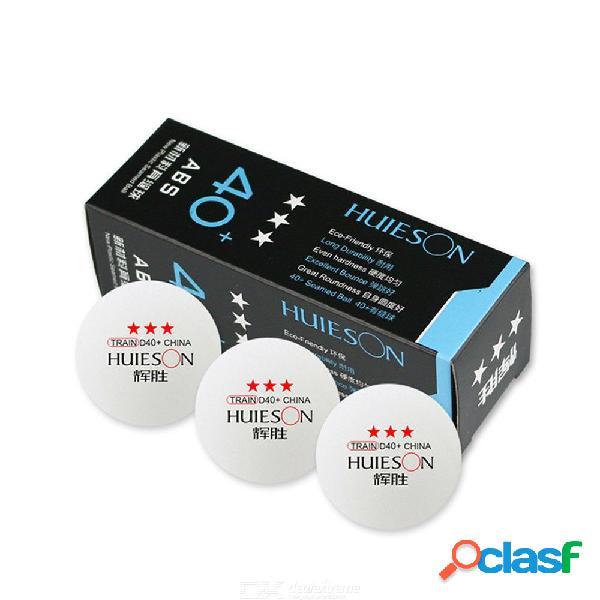 Huieson 3 unids / caja de plástico profesional pelota de ping pong 40 + mm 3 estrellas nuevo material abs tenis de mesa pelotas accesorios deportivos