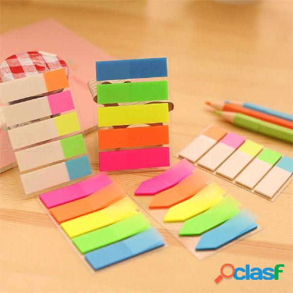 Nota de pet adhesivo adhesivo fluorescente creativa de papel adhesivo para niños útiles escolares papelería coreana