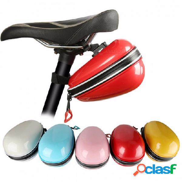 West biking sillín de bicicleta abs impermeable, ciclismo caja de almacenamiento trasera, bolsa de tija de sillín de asiento de bicicleta a prueba de lluvia