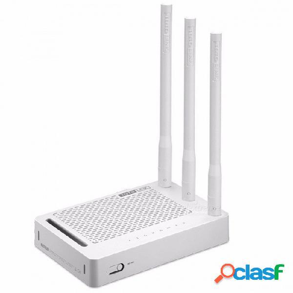 Totolink n302r + 300mbps wifi router, enrutador inalámbrico con 3 unidades de antenas 5dbi, configuración de una página, con repetidor / características de ap