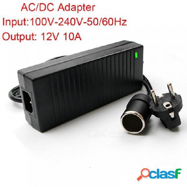 Adaptador de corriente del enchufe de la ue para la bomba inflable portátil del compresor de aire del coche