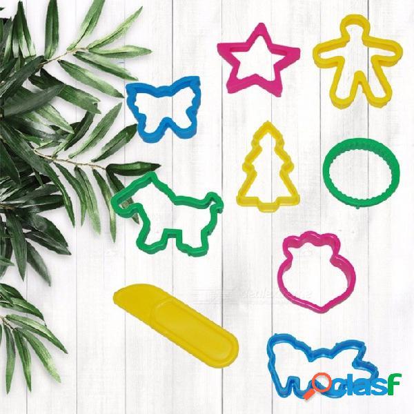 Juego de moldes de plastilina de arcilla súper liviana de 8 piezas, traje de ocho piezas para niños pequeños multicolores