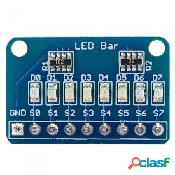 Open-smart cátodo común 8bit 8x led barra marquesina módulo de pantalla led w / 4 clases de color para arduino