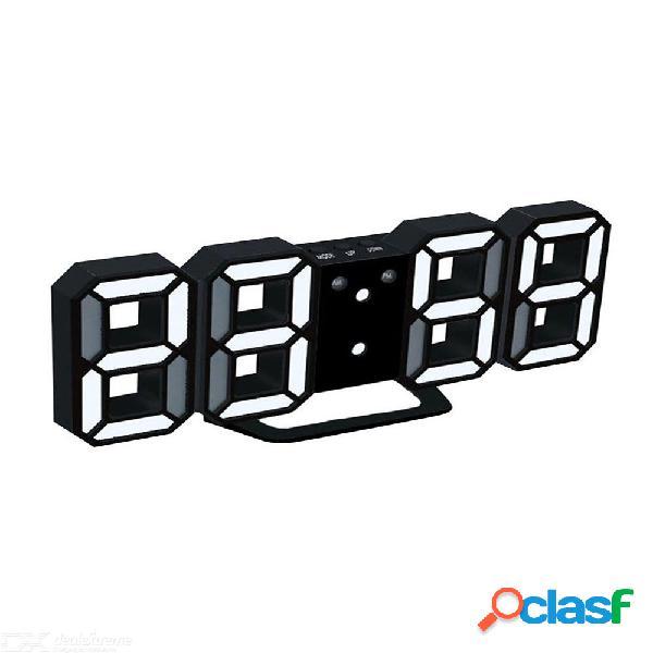 Reloj de mesa moderno y original con led digital, reloj de mesa de 24 o 12 horas, mecanismo de visualización, despertador, despertador de escritorio