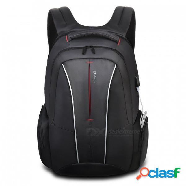 Dtbg d8231 mochila para portátil de negocios con estilo de viaje de 17.3 pulgadas con puerto de carga usb, bolsillos antirrobo para mujeres hombres